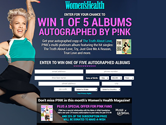 Women's Health - P!nk Promotion