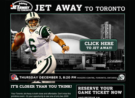 Rogers Jet Away Email Blast